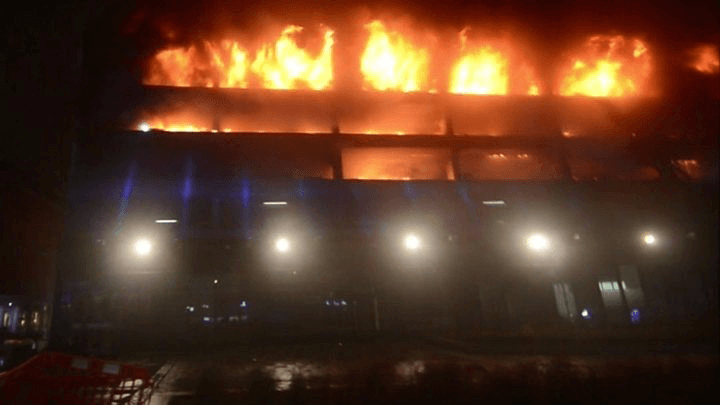 Liverpool Car Park Fire